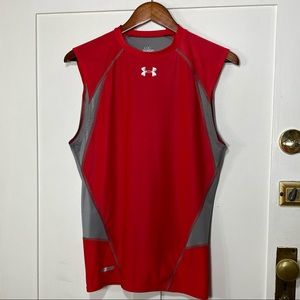 Under Armour Metal Red Sleeveless Muscle Shirt
